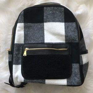 Adam Lippes x Target Plaid Faux Sheepskin Backpack